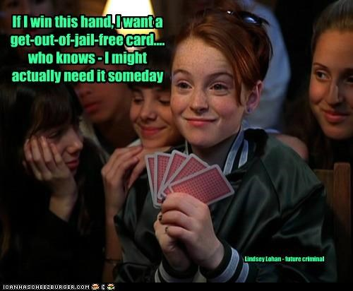 cards,games,get out of jail free,jail,lindsay lohan,The Parent Trap,young