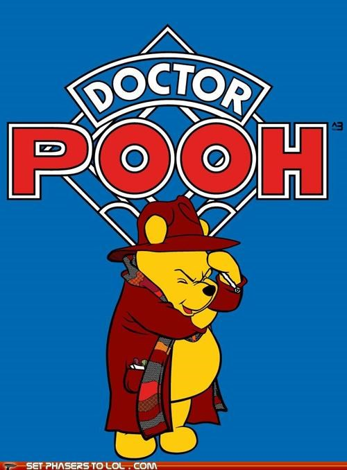 doctor who,the doctor,tom baker,winnie the pooh