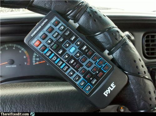 remote control,steering wheel,zip tie