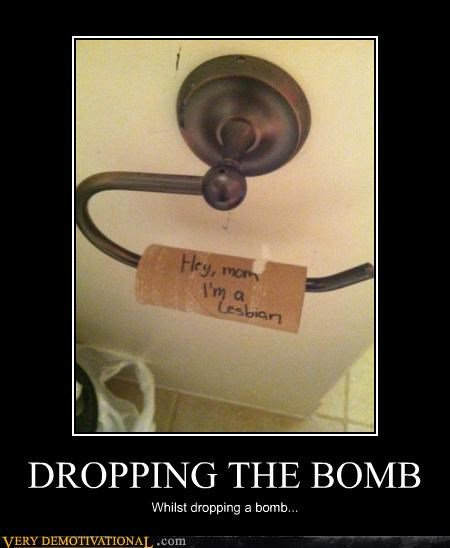 dropping a bomb,hilarious,news,toilet paper
