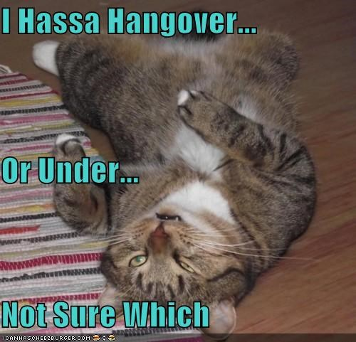 I Hassa Hangover... Or Under... Not Sure Which