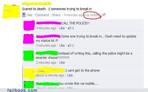 break in,crime,facepalm,phone,priorities