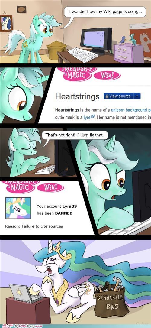 comics heartstrings lyra mlp wiki trollestia - 5397326080