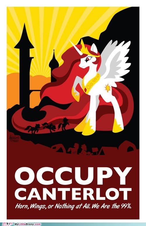 alicorn meme Occupy Wall Street princess celestia We Are The 99 Percent - 5397326848