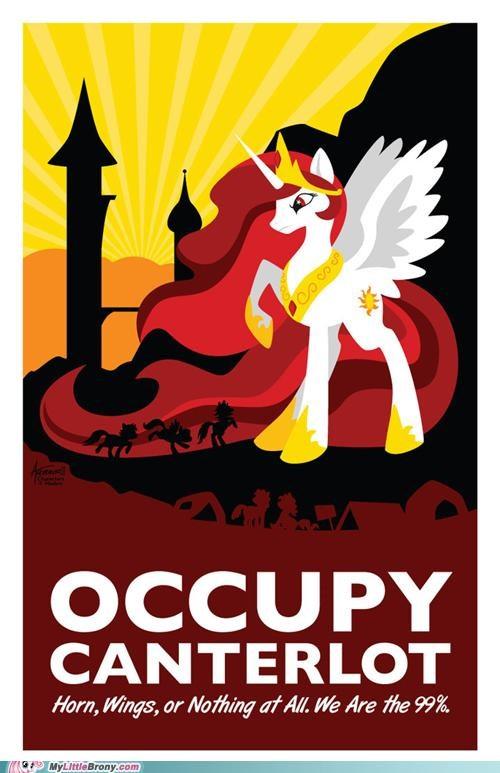 alicorn meme Occupy Wall Street princess celestia We Are The 99 Percent - 5397326848