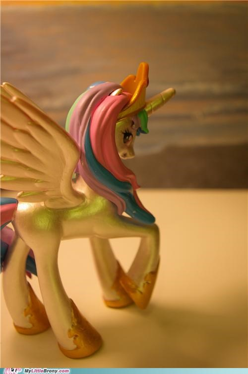 awesome celestia figurine metallic ponies - 5398387968