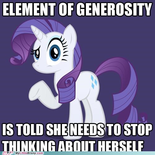 applejack element-of-harmony-generous ponies rarity selfish - 5398483968