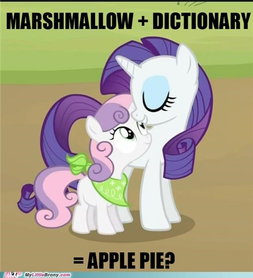 apple pie,dictionary,marshmallow,meme,new recipe,rarity