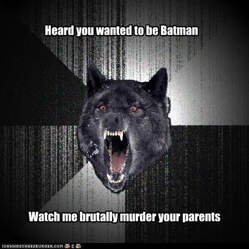 batman,Insanity Wolf,murder,origins,parents