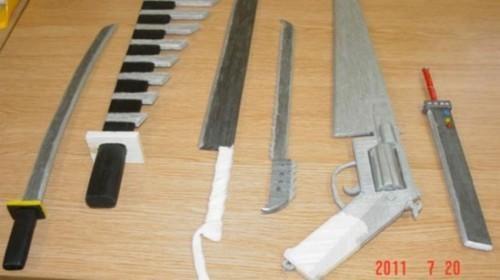 buster sword,Fan Art,final fantasy,Gunblade,jail,matchstick,prison,weapons