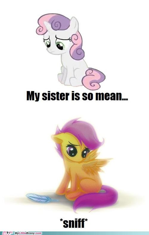 at least you have one best of week ponies Scootaloo sister Sweetie Belle - 5398779392