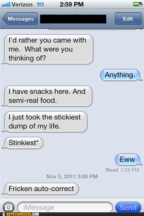 autocorrect,snacks,stickiest,sticky,stinkiest