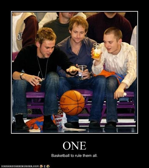 basketball,billy boyd,dominic monaghan,elijah wood,Lord of the Rings,one ring,sports