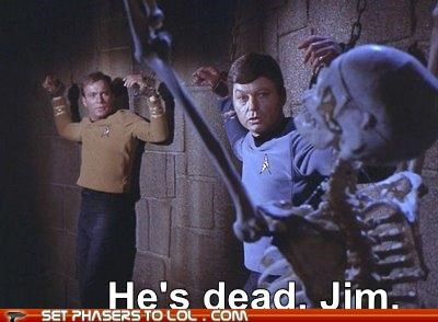 captain james t kirk,DeForest Kelley,McCoy,obvious,Star Trek,William Shatner