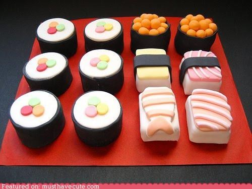 epicute fish fondant rolls sashimi sushi sweets - 5401503744