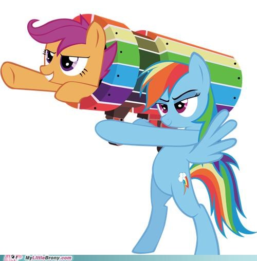 chicken ponies rainbow dash Scootaloo Together At Last - 5401759744