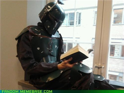 bounty hunter casual cosplay reading - 5401832448