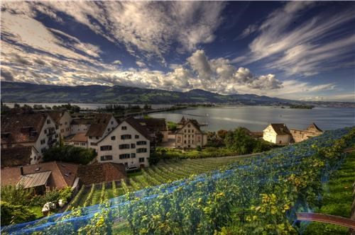clouds europe getaways Hall of Fame Switzerland town village - 5402444800