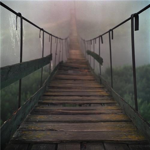 bridge europe fog getaways mysterious rural russia serene - 5402589440