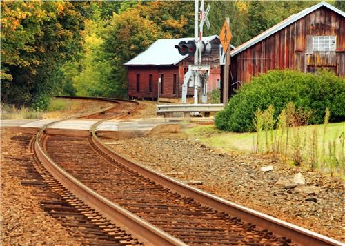 cabin getaways north america oregon peaceful railroad railroad tracks rural tranquil united states - 5402609664