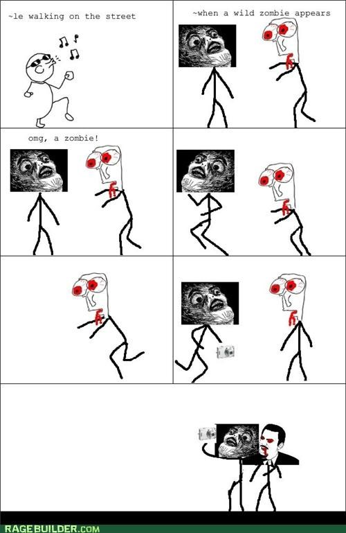dumb,pictures,Rage Comics,zombie