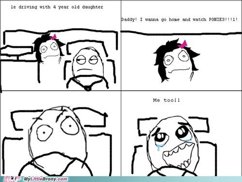 best of week comics daughter driving kids ponies rage comic waiting - 5403379456