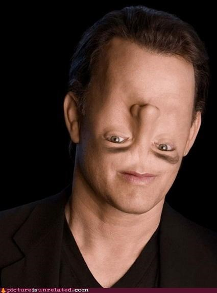 looking,tom hanks,upside down,wtf