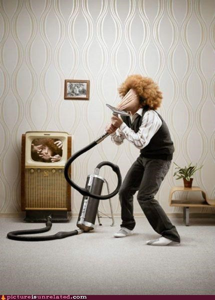 No wonder cats are terrified of vacuum cleaners.