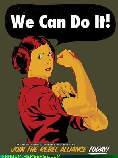 Fan Art leia rebels rosie the riveter star wars - 5403908608