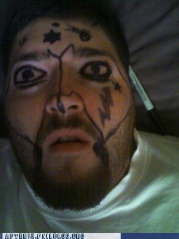 drunk passed out sharpie Staring stars - 5403975424
