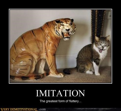 cat,flattery,hilarious,imitation,tiger