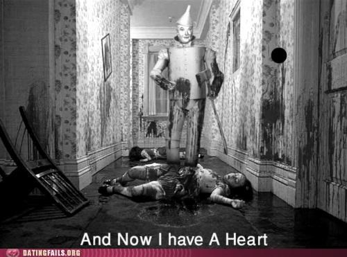 Hall of Fame heart if i only had a heart the shining tin woodsman wizard of oz - 5404968448