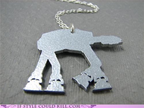 at at,cool accessories,geek chic,necklaces,star wars