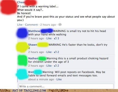 facebook label spam warning - 5405385984