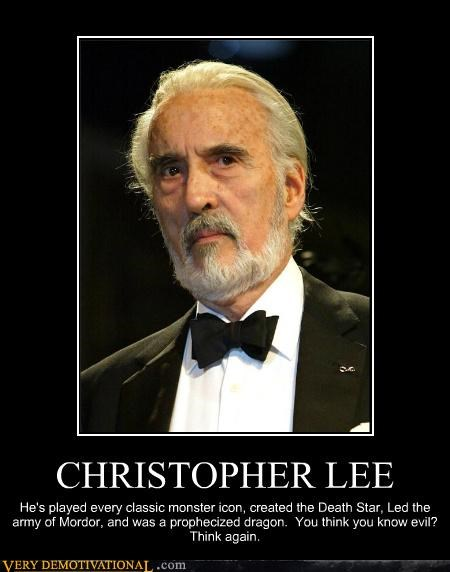 Christopher Lee Death Star evil monster sauramon Terrifying