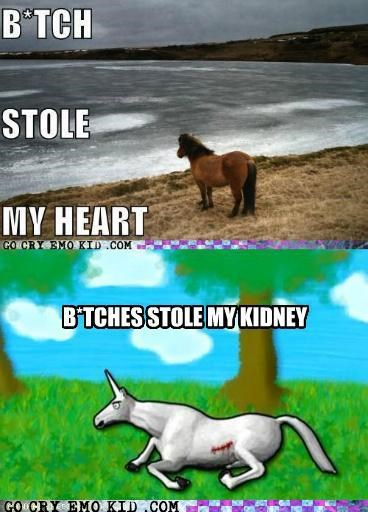 best of week,charlie the unicorn,emolulz,heart,horse,kidney