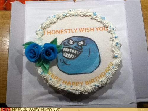 birthday cake honest i lied lies meme Rageface