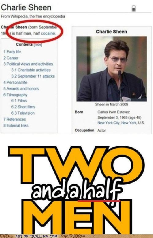 Charlie Sheen drugs not sexy white stuff two and a half men wikipedia - 5405771264