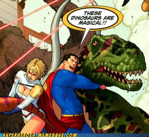 dinosaurs powergirl Straight off the Page superman wtf - 5405828608