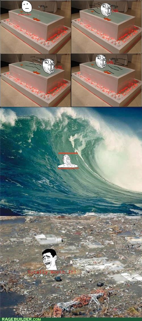 bathtub,fun,Rage Comics,wave