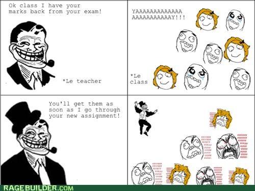 exam grades Rage Comics troll