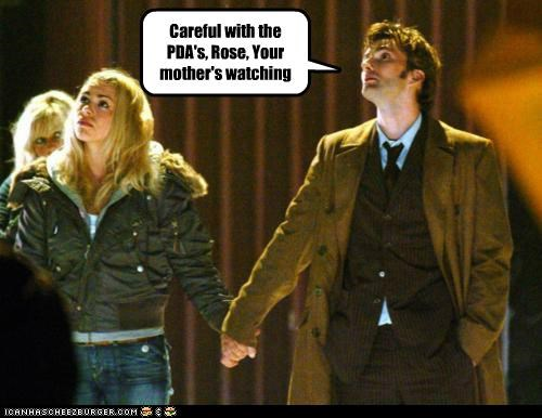billie piper,David Tennant,doctor who,mother,PDA,rose tyler,the doctor