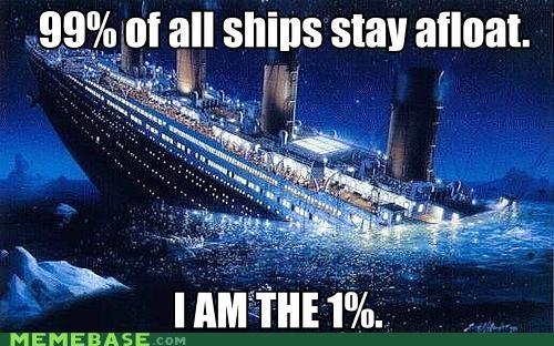 Occupy Wall Street ocean ship sink titanic too soon - 5406579968