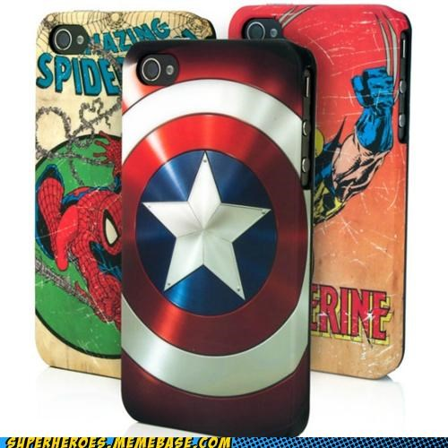 captain america iphone Random Heroics Spider-Man wolverine - 5406610432