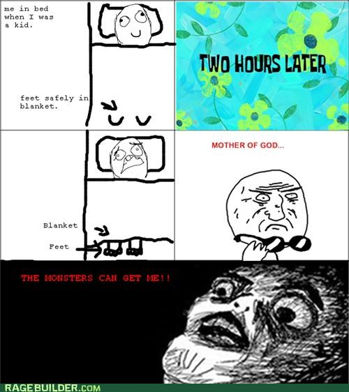 bed,feet,monster,Rage Comics