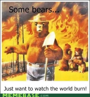 animemes bears forest fires smokie some men - 5406914816