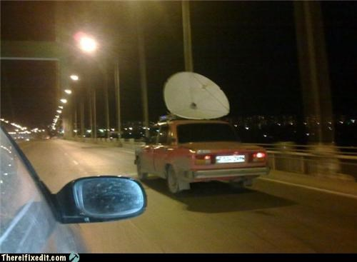 cars Mad Science Monday overkill satellite dish - 5406915584