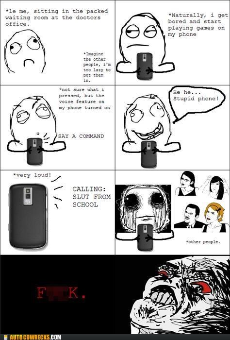 comic embarrassing loud phone rage comic trollop voice feature
