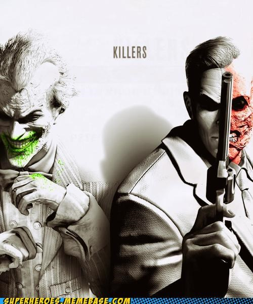 arkham city,Awesome Art,best of week,joker,killers,two face,villians