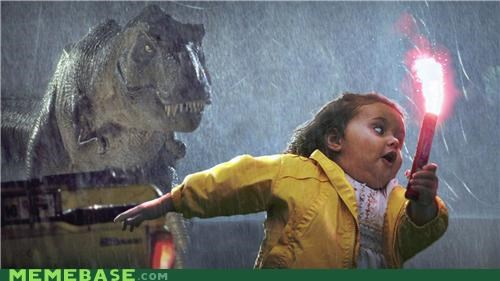 bubbles girl dynamite flares jurassic park Memes movies - 5407043328